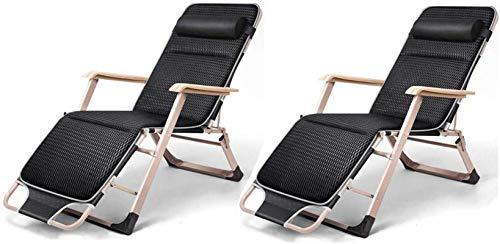 Sillón Sol Tounger Sillas de jardín plegable Conjunto de 2 tumbonas reclinables plegables, silla de cama de tela teslin de tela Dualusa Patio de jardín al aire libre Silla para la oficina ReCliendler