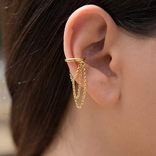 boucle d'oreille avec chaine