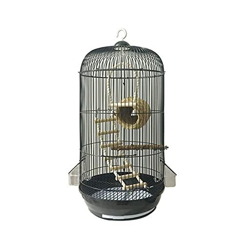 Kit Gabbia per Uccelli da Volo Gabbia per Uccelli Ferro battuto Select Bird Cage Grande Flight Bird Cage con parrocchetto, Canarino, Finch, Cockatiel, Nero Gabbie per Uccelli da Compagnia
