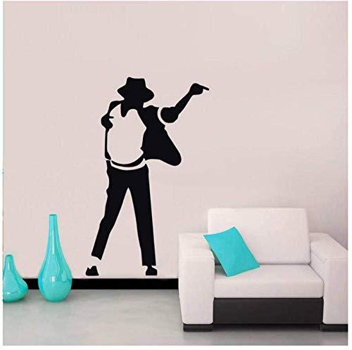 Pop Top Ster Muurstickers voor Muziek Kamer Achtergrond Verwijderbare Behang Decals Woonkamer Vinyl Art Decoratie Home57X91Cm