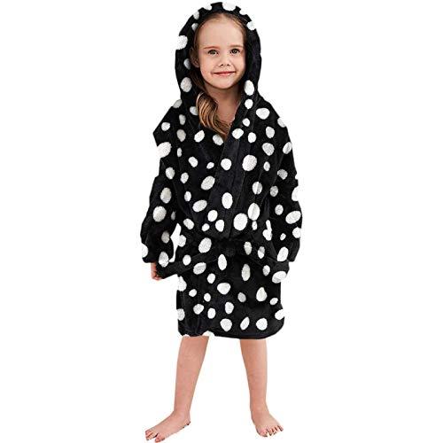 GYPPG Albornoces Ultra Suaves para niñas y niños, Bata para bebés y niños pequeños, Albornoz de Franela con Capucha y cinturón, Pijamas Calientes, Ropa de Dormir