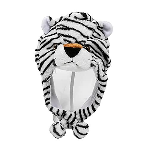 XuHangFF Kawaii - Gorro de peluche con diseño de animales de dibujos animados, para regalo, a prueba de viento, para Halloween, decoración de mascotas