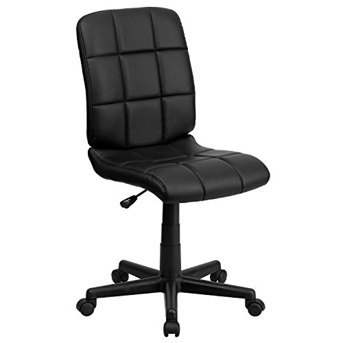 Flash Furniture Mid-Back Black Quilted Vinyl Swivel Task Office Chair - GO-1691-1-BK-GG
