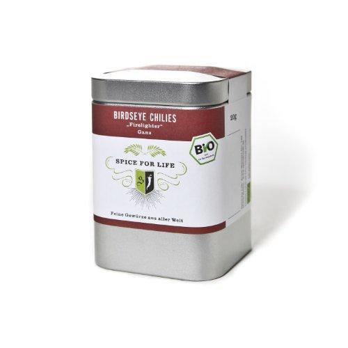 Spice for Life Bio Birdseye Chillies (ganz) Firelighter Kleine Dose 20 gr