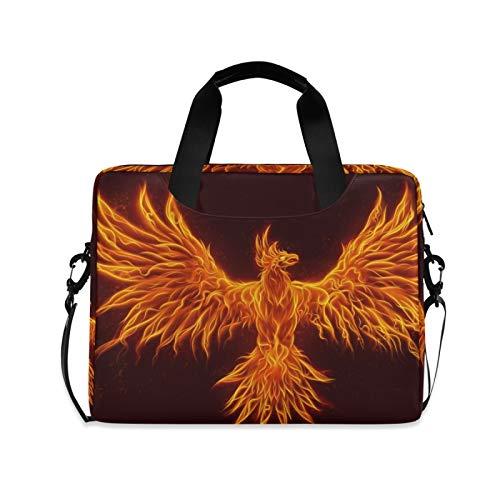 Laptp Case Burning Bird Pattern - Bolsa protectora para ordenador portátil de 15,6', 360°, con correa para el hombro para hombres y mujeres