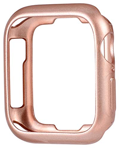 JSGJMY Soft TPU Case Compatible with Apple Watch 38mm 40mm 42mm 44mm Series 6,Series 5,Series 4,Series 3,Series 2,Series 1 (Series 6/5/4/3 Rose Gold, 38mm/40mm)