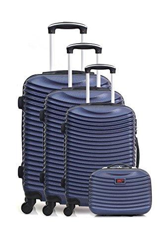 Hero Etna-C Koffer-Set, 76 cm, 206 liters, Blau (Bleu Marine)