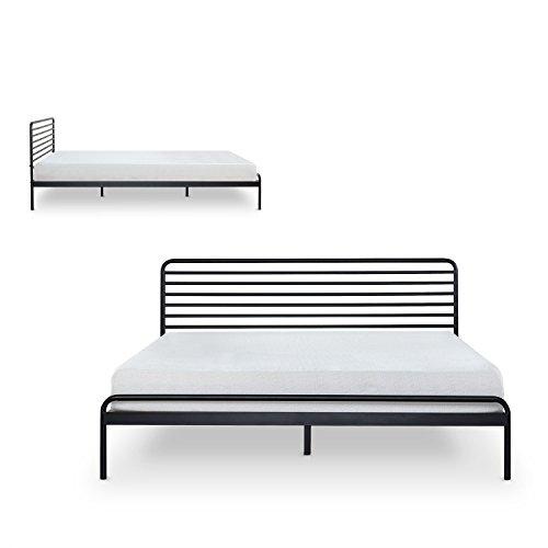 Zinus Tom Metal Platform Bed Frame / Mattress Foundation / No Box Spring Needed / Wood Slat Support / Design Award Winner, Queen
