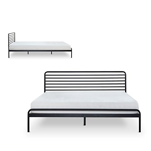 Zinus Tom Metal Platform Bed Frame / Mattress Foundation / No Box Spring Needed / Wood Slat Support / Design Award Winner, King