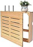 Estante Flotante WiFi Router Caja de almacenamiento de madera maciza WiFi estante óptico gato caja de almacenamiento flotante tv stand wifi enrutador marco marco de pared soporte soporte de televisión
