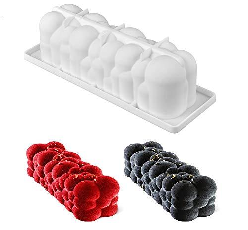 LES TROUVAILLES DE SANDRINE Moule Silicone gâteau Forme bûche de noël Nuage Boule, pâtisserie 3D Anti adhérent, Moule à manqué Original Silicone de qualité Pro Design - 29 * 9.5 * 8 cm
