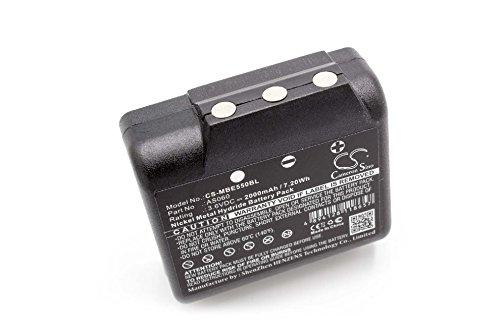 vhbw Batería Recargable Compatible con IMET BE5500, M550S Thor, M550s Zeus Mando a Distancia Industrial, Control Remoto (2000 mAh, 3,6 V, NiMH)