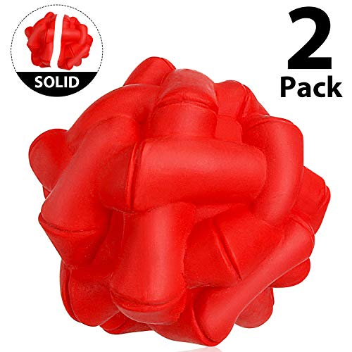 WINGPET Durable-Dog-Balls-Chew-Toys, Rubber Solid Bounce Balls Aggressive Chewers, Great for Outdoors Training or Fetch Game, 2.4 Inch, Pack of 2