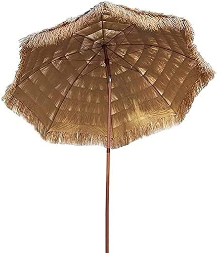 Paraguas de Paja Impermeable Paraguas de Paja Tiki Paraguas de Patio de Playa de Estilo Hawaiano Paraguas Duradero para Exteriores para Pesca en la Playa Camping