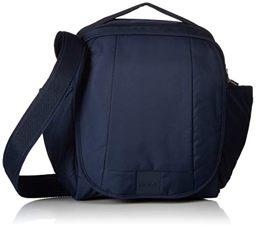 Pacsafe Metrosafe LS200 Anti-Diebstahl Nylon Umhängetasche für Damen und Herren, Schultertasche mit Diebstahlschutz, Tasche mit Sicherheits-Features - 7 L Uni, Blau/Deep Navy