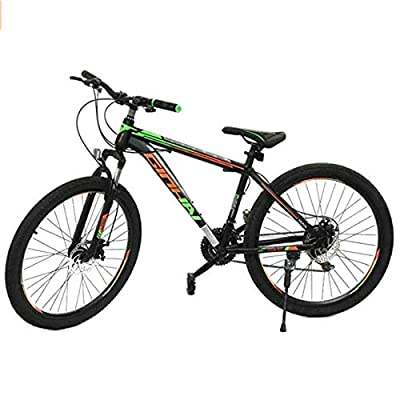 YUEBM Mountain Bike Outdoor Sports, Exercise Fitness,Variable Speed 26 Inches Cycling Sports Mountain Bikes Suitable for Men and Women Cycling Enthusiasts (BGreen)