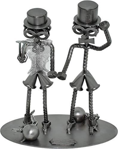 CREOFANT Destornilladores novios · Idea de regalo boda · Figura de pareja de tornillos · Figura de metal · Hecho a mano · Regalos de metal · Hinz & Arte Original