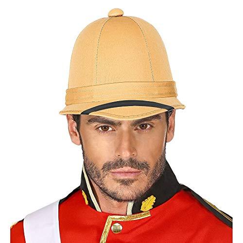 NET TOYS Authentisch wirkender Tropenhelm Eroberer - Beige - Hochwertige Herren-Kopfbedeckung Kolonial-Zeit - Perfekt geeignet für Fasching & Karneval