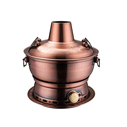 LRHD Vecchio Stile Pechino Mutton Hotpot Rame Hotpot, 304 pentolame in Acciaio Inox, Charcoal Rame Puro Pentole Commerciale Hotpot Negozio Speciale Pot Piatto Caldo, mongola Hotpot. (Color : B)