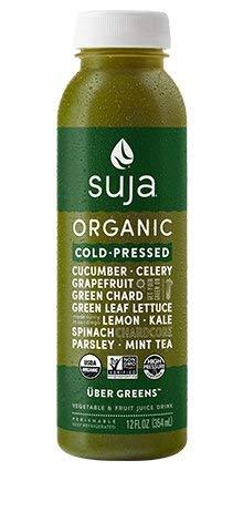 Suja Organic Essentials Uber Greens Fruit Juice 12 ounce (Pack of 6)