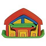 Glückskäfer 523266 Haus mit Möbel, rot/blau