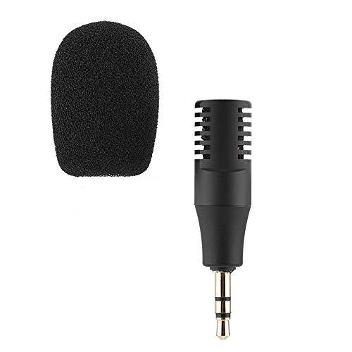WOUPY Micrófono de Condensador, micrófono inalámbrico, portátil de 3,5 mm para Talk Show, Compartir practicando entrevistas en la Calle