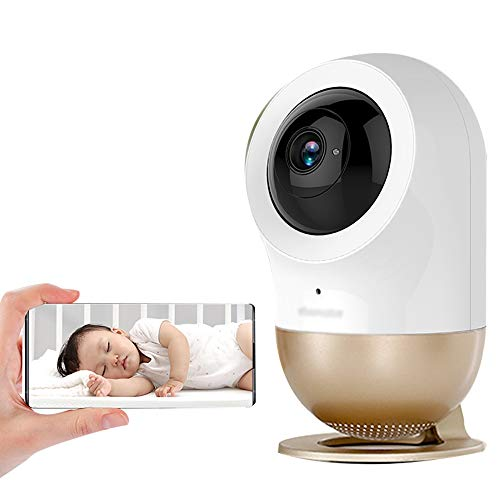 WXLSQ Baby Monitor Security Camera High Resolution Baby Sleeping Cam Night Vision Home Security, with Tracking Detection, 2-Way Audiowith Tracking Detection, Night Vision 2-Way Audio