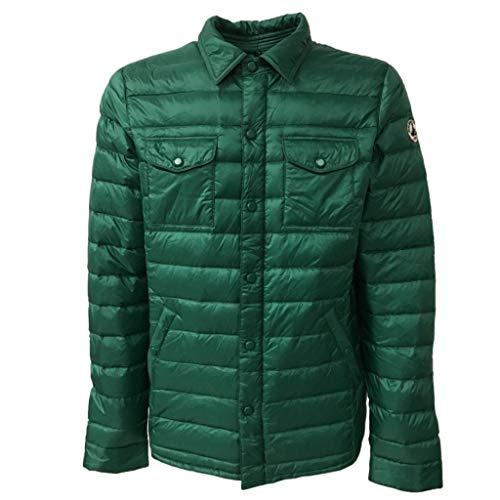 JOTT herenjack donsjack stepjack CRIS groen met hemdkraag borstzakken lichtdonker thermo-warmte-isolatie waterdicht winddicht (maat M)