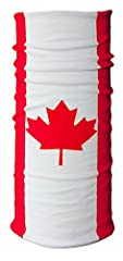 CANADA FLAG FACE MASK / BANDANA: Standard size & Multifunctional; Can be used for 16+ purposes Standard thickness; similar to a T-shirt Breathable, moisture-wicking and dries quickly Durable & stretchable fabric. Seamless, soft, thin, and smooth. A s...