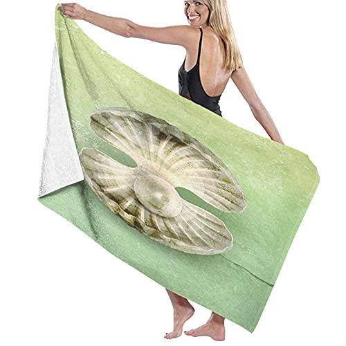Asciugamano da bagno,Perla all'interno di crostacei aperti Vita marina Creatura magica Immagine Texture Vintage,Asciugamani in fibra superfine al 100% Asciugatura rapida Altamente assorbente per l'uso