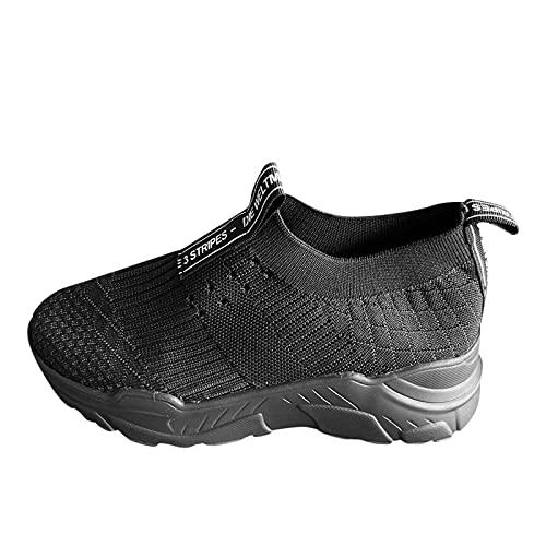 YANFANG Zapatos Casuales de Gruesa Plataforma,Zapatillas De Mujer Fondo Grueso Color SóLido Altura Zapatillas Deporte,Zapatos Casuales Transpirable Cordones CuñAs Aire Libre Deporte,38,Negro