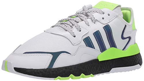 adidas Originals Nite Jogger tenis para correr para hombre, Blanco (Ftwr Blanco/Core Negro/Verde Señal), 42.5 EU