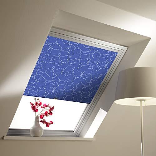 Liedeco Dachfensterrollo Verdunkelung mit Seitenschienen, individuell Kürzbar Breite/.