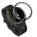 Abanen for Forerunner 645/Vivoactive 3 Music Watch Bezel,Stainless Steel Tachymeter Adhesive Cover Anti-Scratch Protection Ring for Garmin Forerunner 645/645 Music (Black)