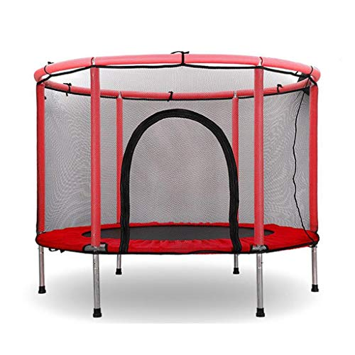 55' Mini Trampoline for Kids Toddler Baby Indoor or Outdoor Trampoline with Safety Enclosure Net - 4.6FT - Blue (Color : Red)