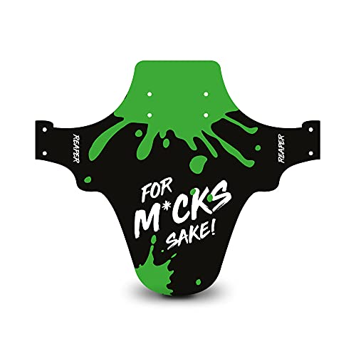 Reaper Accessories Easy-fit Front Mountain Bike Mud Guard Cycle Cycling Fender - Fits 24', 26' & 27.5' - For M*ck's Sake! Green Enduro