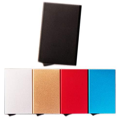 Nosen クレジットカードケース RFID スキミング防止 旅行グッズ 便利グッズ 便利収納 スライド式 スリム 薄型 アルミ セキュリティー強化 ブルー