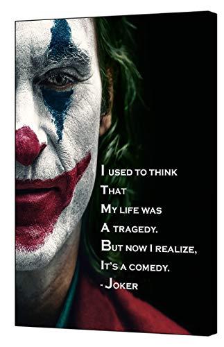 Joker Joaquin Phoenix 2019 Filmzitat auf gerahmter Leinwand, 12''x 8''inch(30x 20 cm) -18mm depth