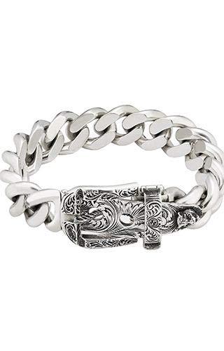 Gucci YBA476810001 Zilveren Man Armbanden