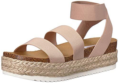 Steve Madden Women's Kimmie Wedge Sandal, Blush, 9 M US