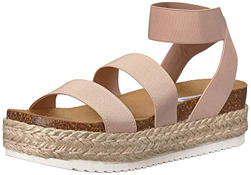 Steve Madden Women's Kimmie Wedge Sandal, Blush, 7 M US