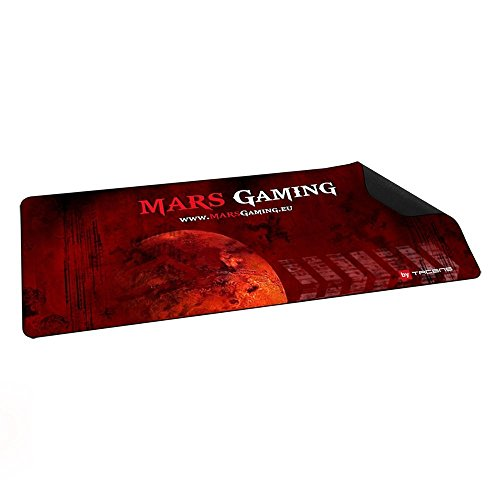 Mars Gaming MMP2 - Alfombrilla de ratón para gaming (alta precisión con cualquier ratón, base de caucho natural, alta comodidad, 88 x 33 cm), color rojo y negro