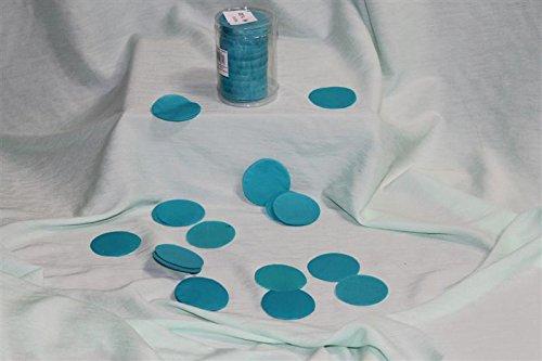 Confettis de scène en forme de ronds bleu turquoise 100 grammes papier de soie [900046turquo]
