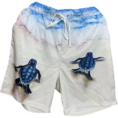 Fainash Pantalones Cortos Estampados para Mujer Moda Casual Sueltos cómodos Tendencia Todo-fósforo Streetwear Personalidad Deportes Pantalones Cortos básicos XXL