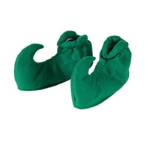 WIDMANN 591-Cubrezapatos con diseño de elfo verdes, para fiesta de carnaval, multicolor, Taglia unica (SA-9562E)