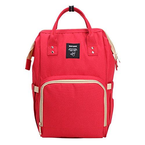 BigForest Mummy Sacs ¨¤ Dos ¨¤ Langer pour B¨¦b¨¦ Sac Travel Bag Multifunction Baby Diaper Nappy Changing Red sac ¨¤ main tote bag