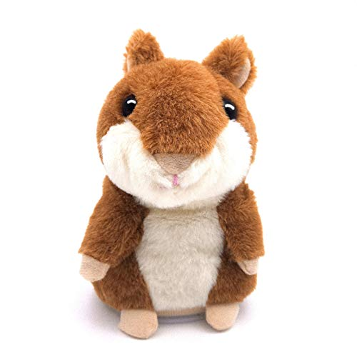 Talking Hamster, Repeats What You Say Plush Animal Toy Electronic Hamster Mouse for Boys, Girls & Baby Gift