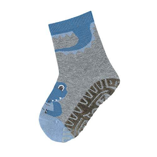 Sterntaler Baby Jungen Fli Fli Sun Krokodil Socken, Grau (Silber Mel. 542), 6-9 Monate EU