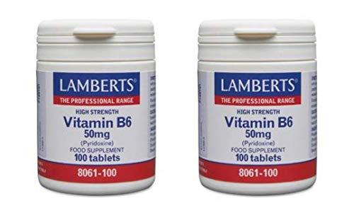 Lamberts Vitamin B6 (Pyridoxine) 2X 100 50mg Tablets