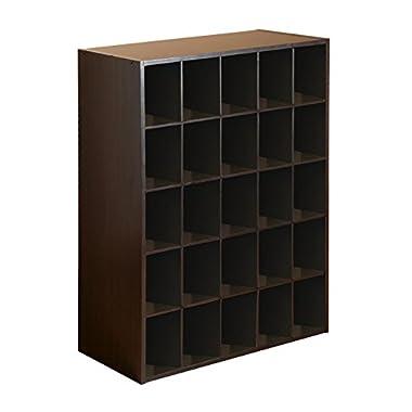 25-Cube Organizer, Espresso